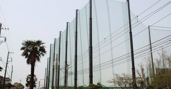 防球ネット(鋼管柱)