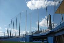 防球ネットにおけるコンクリートポールと鋼管柱について