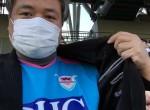 サッカー観戦 マグロちゃん