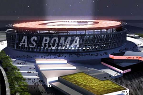 ローマの新スタジアムの構想写真