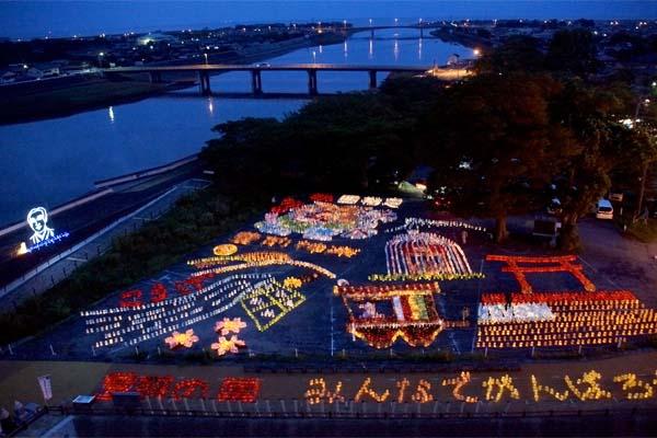 豊前の国 観月祭 中津 城あかり (2)