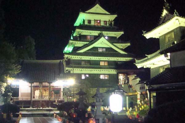 豊前の国 観月祭 中津 城あかり (3)