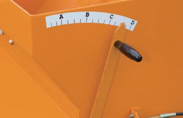 スプレッター 無断階で散布率を調整可能