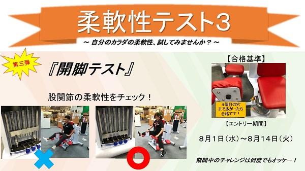 ■2018年8月1日_14日 開脚テスト