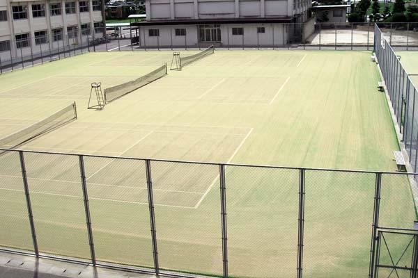大刀洗中学校テニスコート人工芝張替え