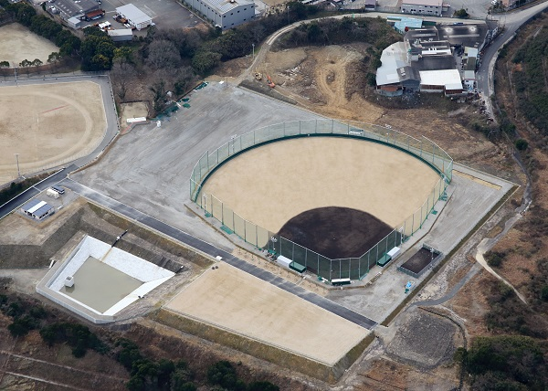 自由ヶ丘高等学校 野球場(航空写真)