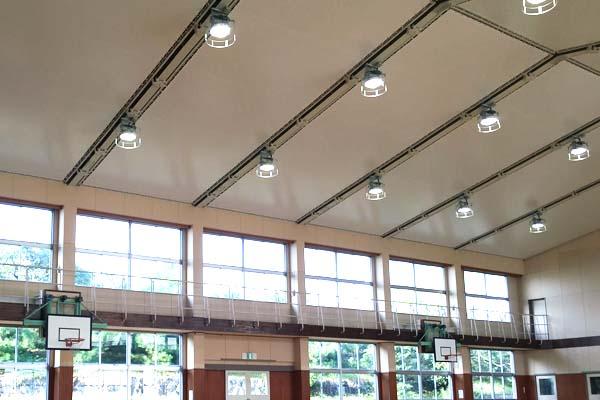 福吉小学校体育館天井改修