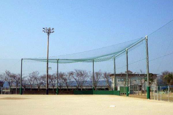 玄海みらい学園グラウンド整備 防球ネット