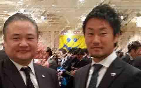 マグロちゃんと藤田キャプテン