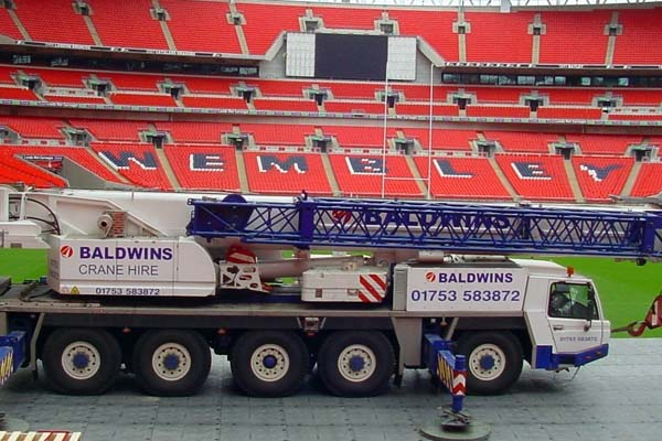 ■TERRATRAK - 100 ton truck at Wembley