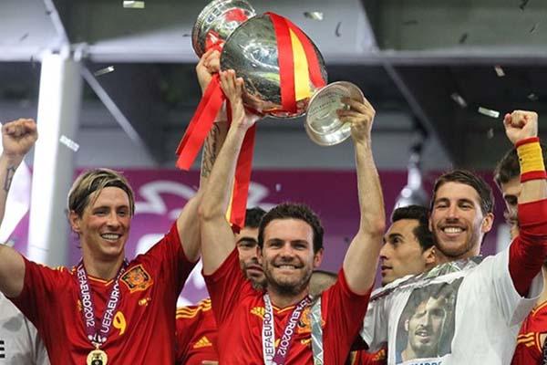 前回大会EURO2012の優勝はスペイン代表