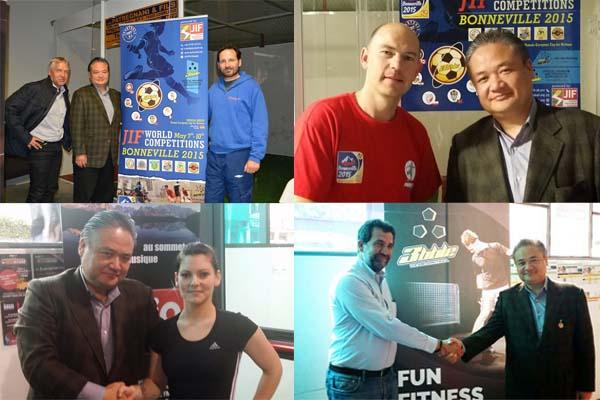 ジョーキーボール創始者と国際連盟会長