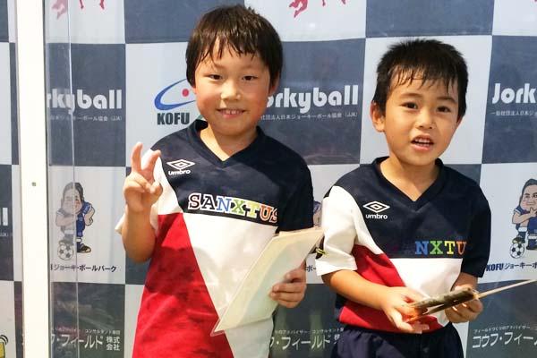 KOFU-Jr.CUP U8 (2019年7月20日)3rd■写真 しゅうと&たいが